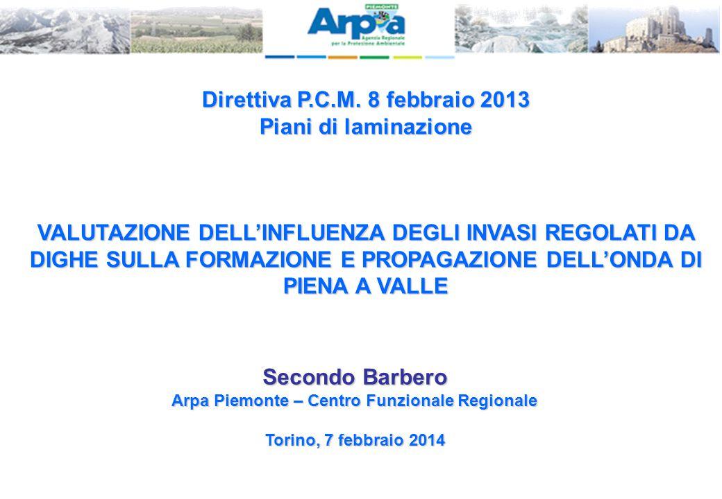 Direttiva P.C.M. 8 febbraio 2013 Piani di laminazione