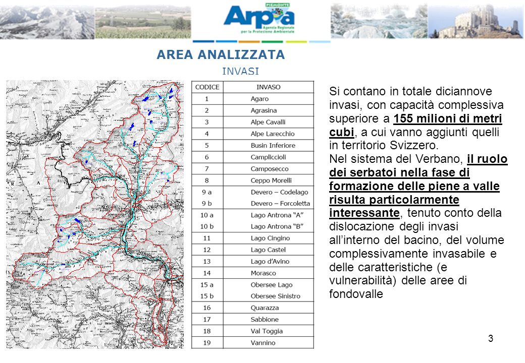 AREA ANALIZZATA INVASI.