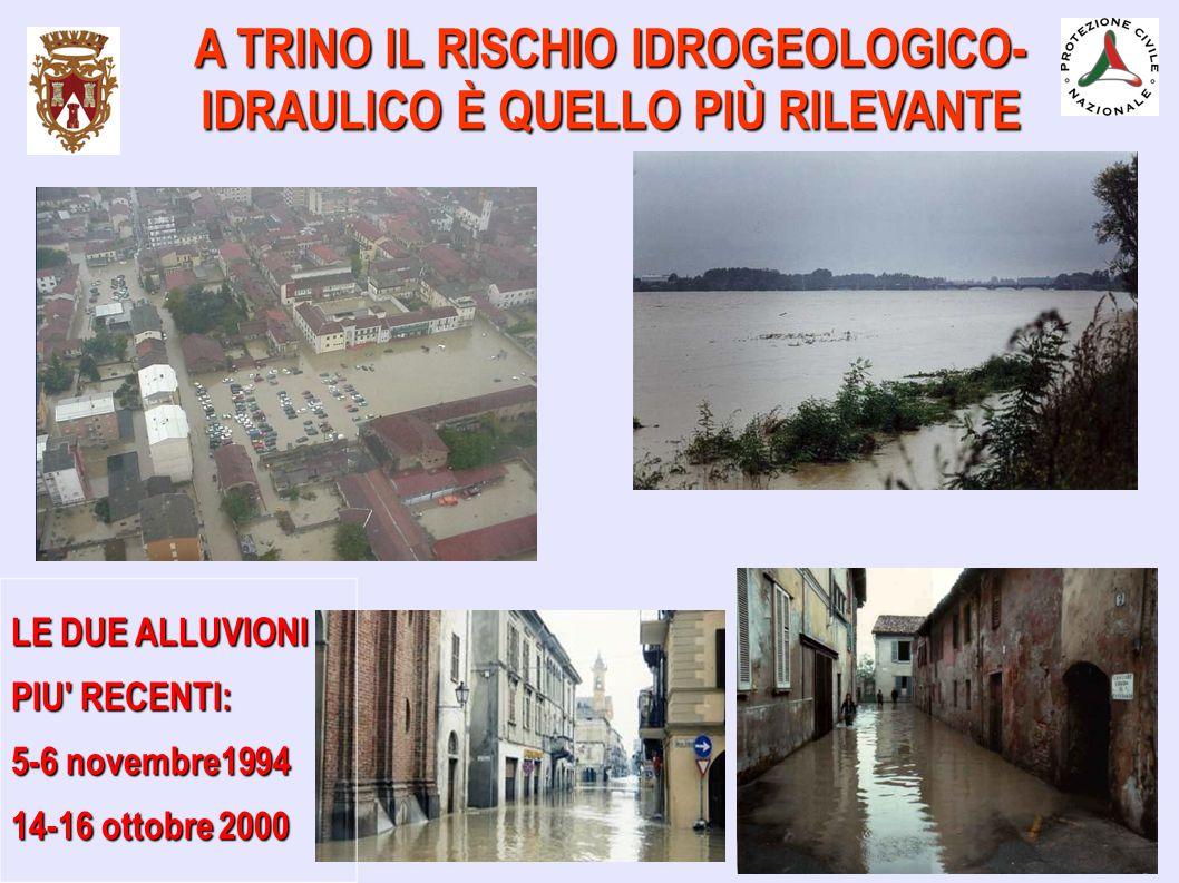 A TRINO IL RISCHIO IDROGEOLOGICO- IDRAULICO È QUELLO PIÙ RILEVANTE