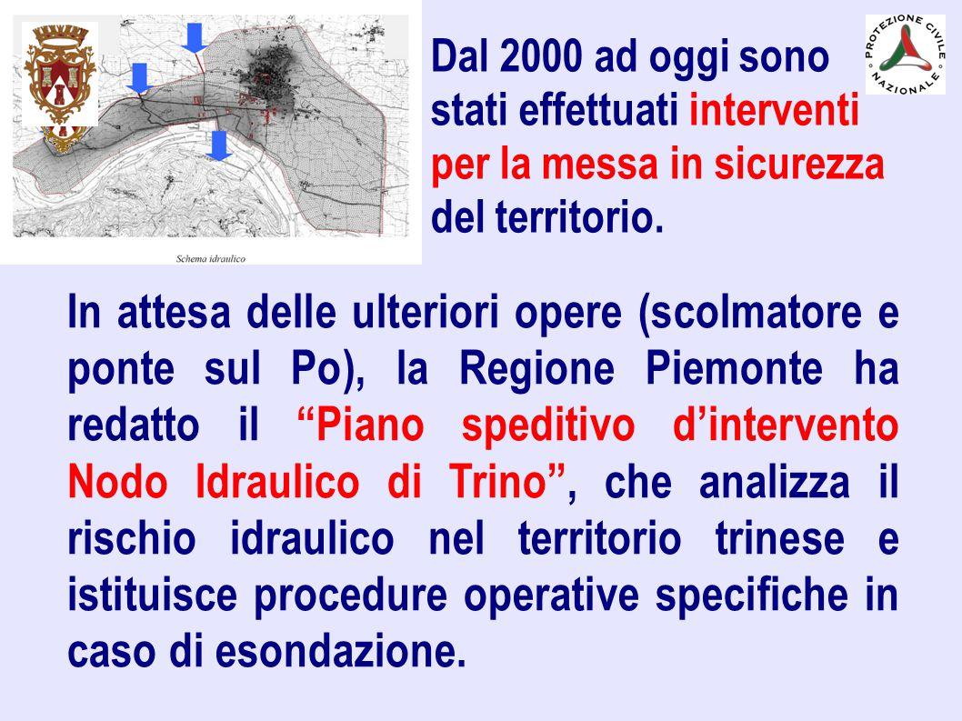 Dal 2000 ad oggi sono stati effettuati interventi per la messa in sicurezza del territorio.