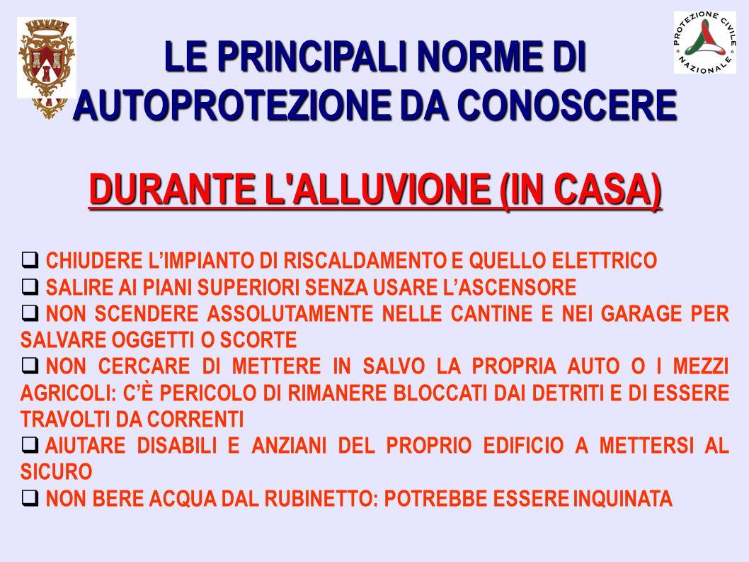 LE PRINCIPALI NORME DI AUTOPROTEZIONE DA CONOSCERE