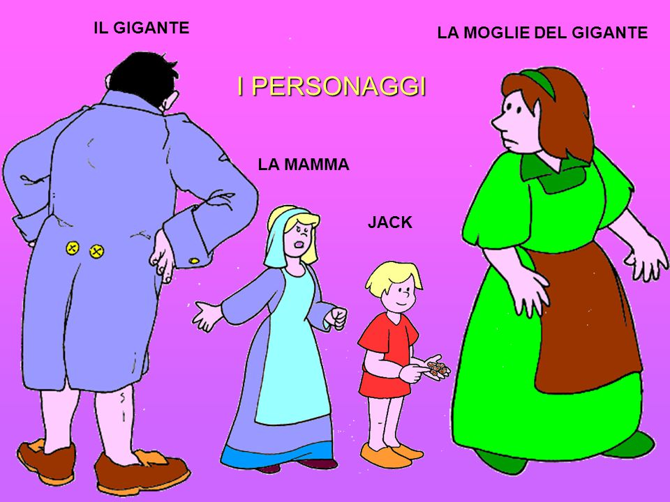 IL GIGANTE LA MOGLIE DEL GIGANTE I PERSONAGGI LA MAMMA JACK