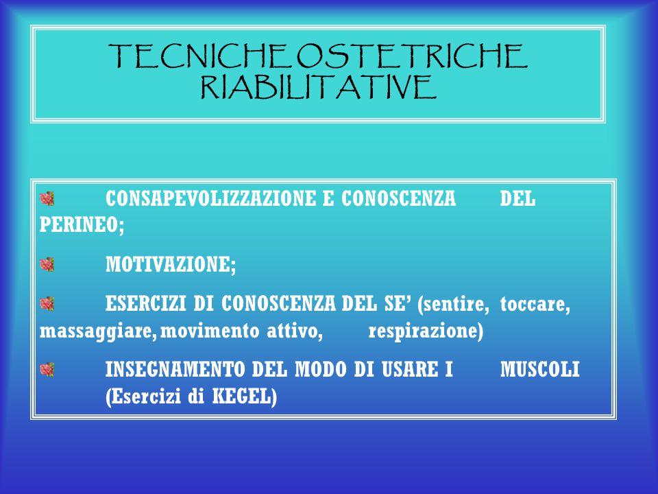 TECNICHE OSTETRICHE RIABILITATIVE