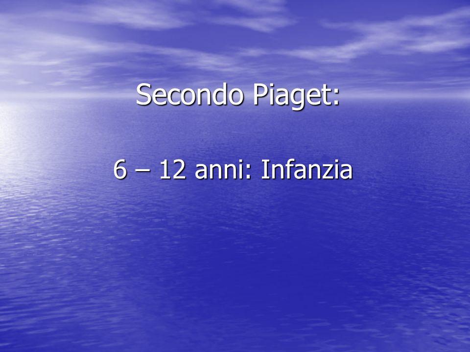 Secondo Piaget: 6 – 12 anni: Infanzia