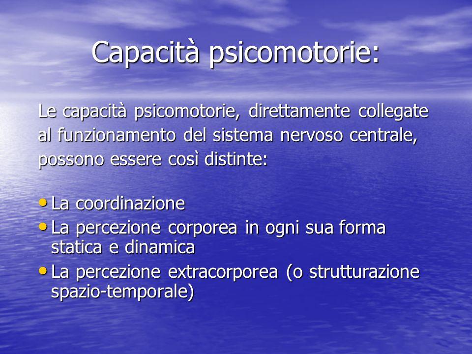 Capacità psicomotorie: