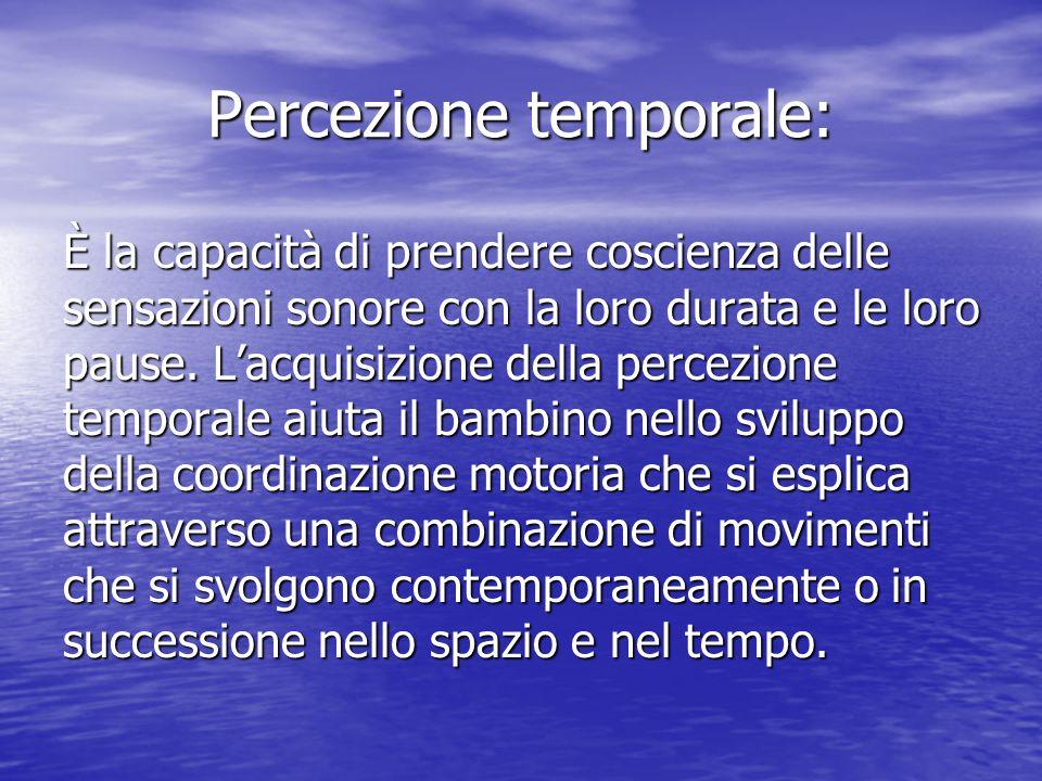 Percezione temporale: