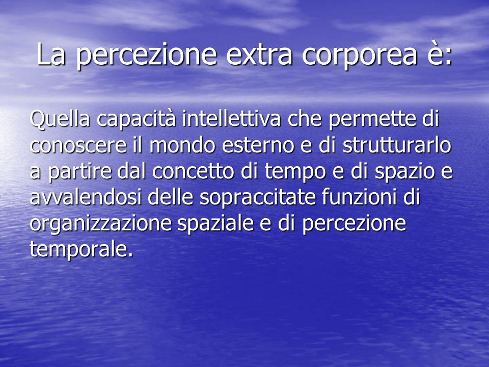 La percezione extra corporea è:
