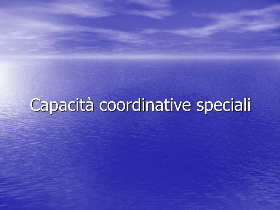 Capacità coordinative speciali