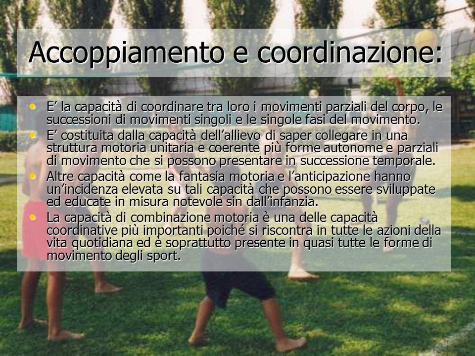 Accoppiamento e coordinazione: