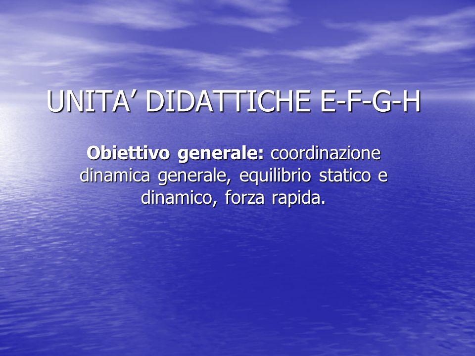 UNITA' DIDATTICHE E-F-G-H