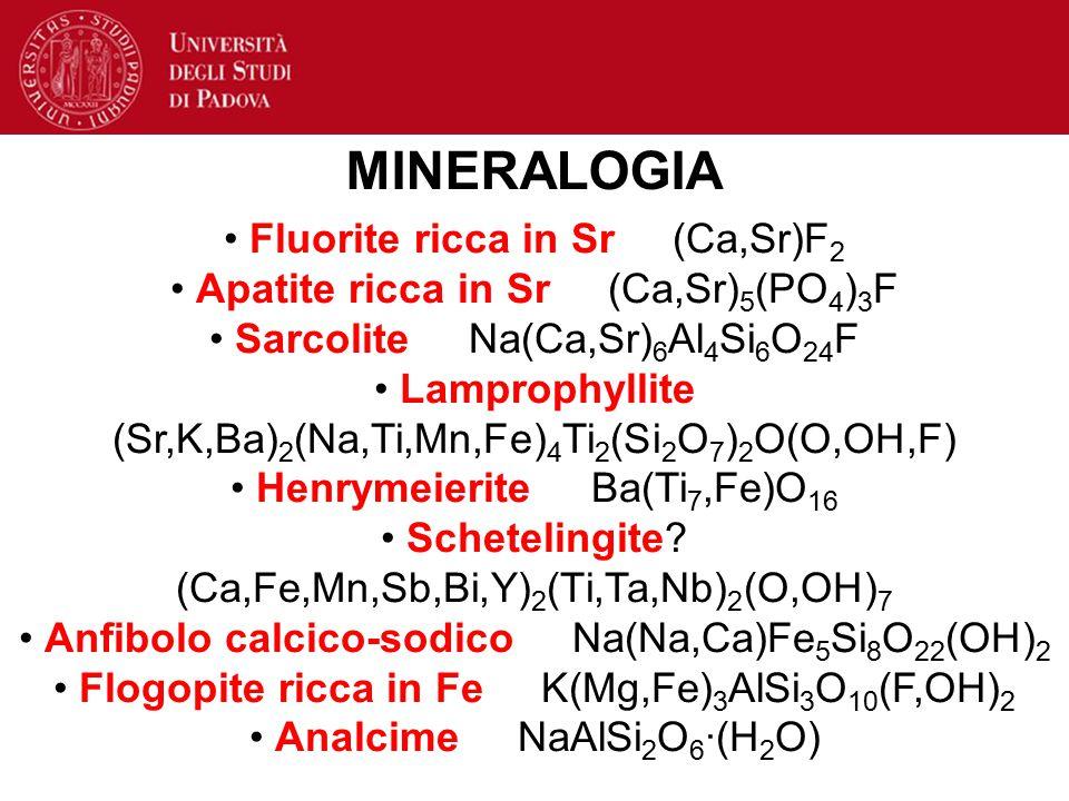 MINERALOGIA Fluorite ricca in Sr (Ca,Sr)F2