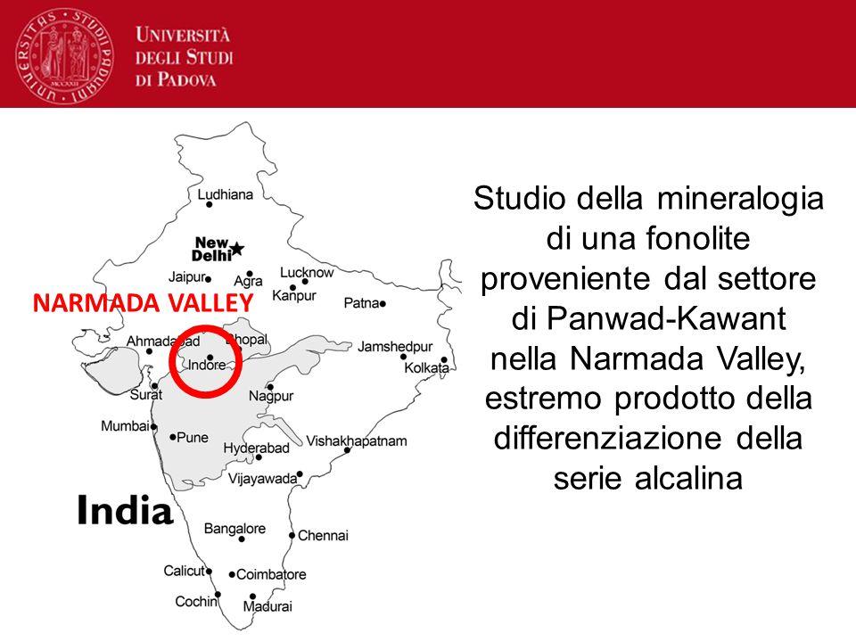 Studio della mineralogia di una fonolite proveniente dal settore di Panwad-Kawant nella Narmada Valley, estremo prodotto della differenziazione della serie alcalina