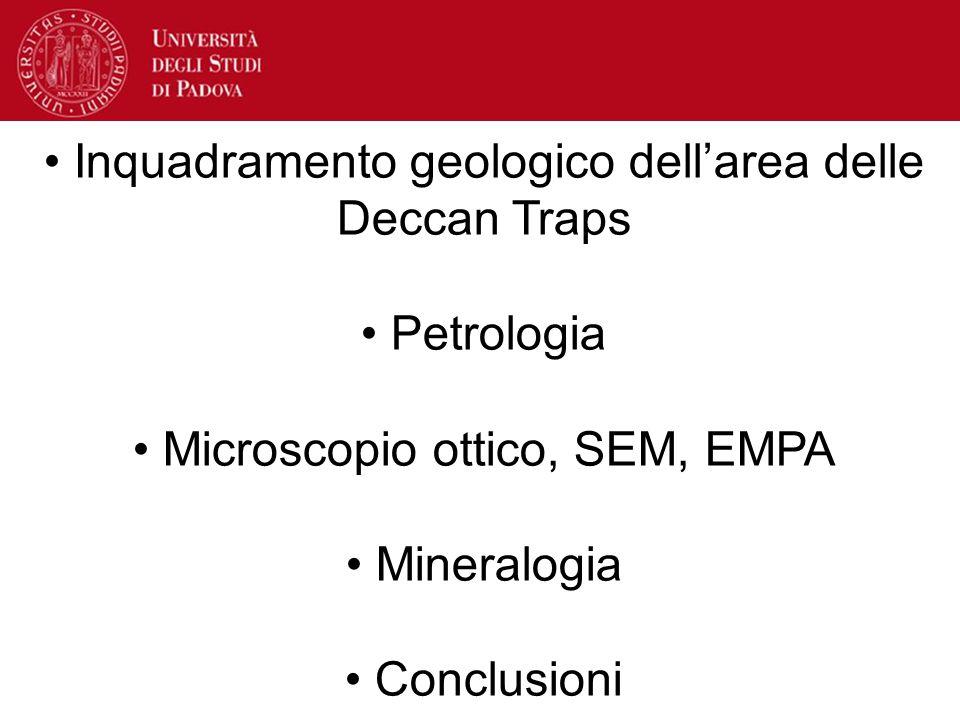 Inquadramento geologico dell'area delle Deccan Traps