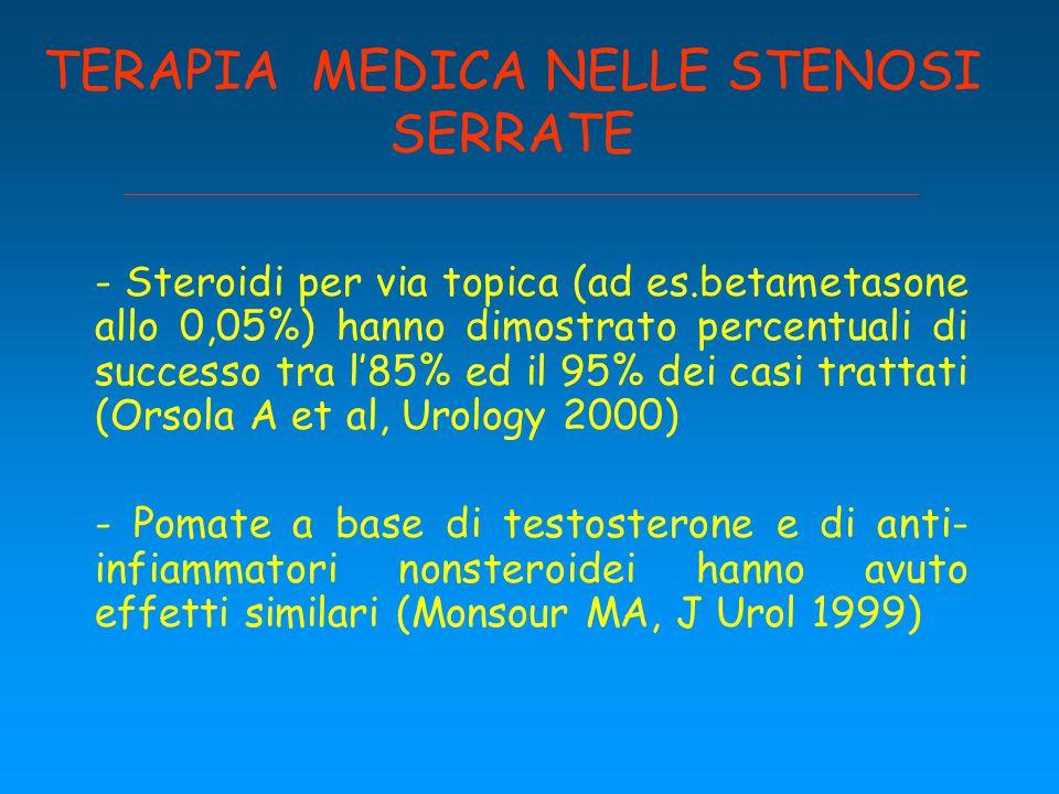 TERAPIA MEDICA NELLE STENOSI SERRATE