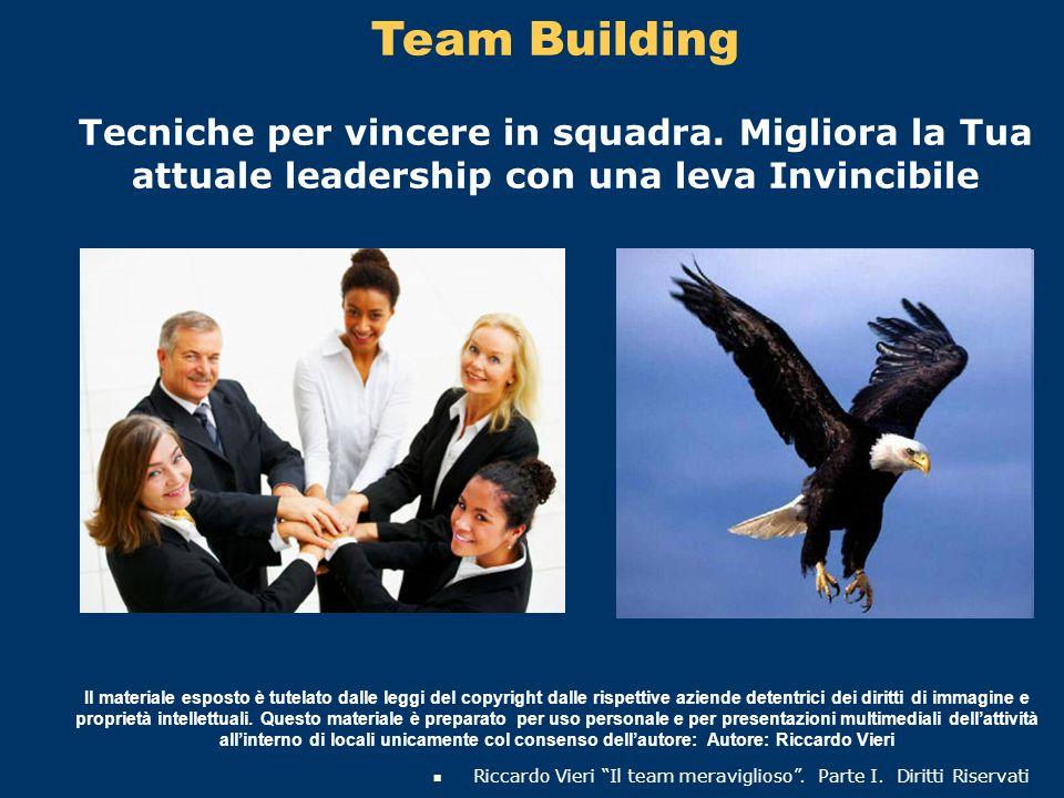 Team Building Tecniche per vincere in squadra. Migliora la Tua attuale leadership con una leva Invincibile.