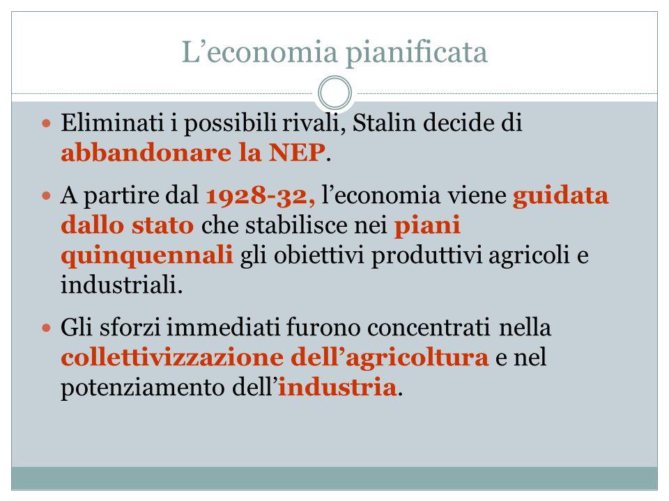 L'economia pianificata