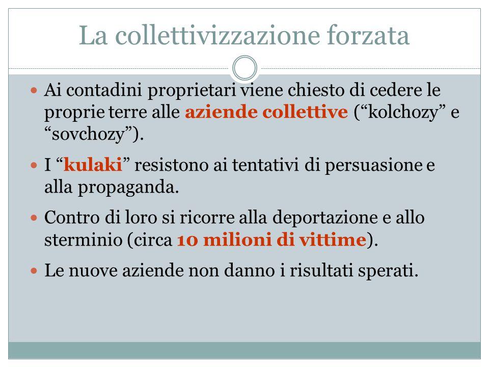 La collettivizzazione forzata