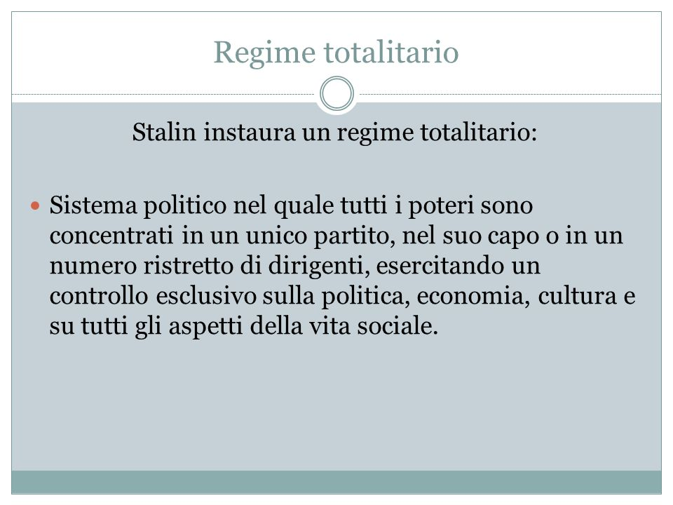 Stalin instaura un regime totalitario: