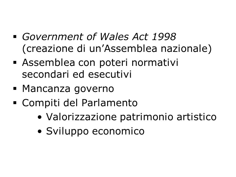 Government of Wales Act 1998 (creazione di un'Assemblea nazionale)