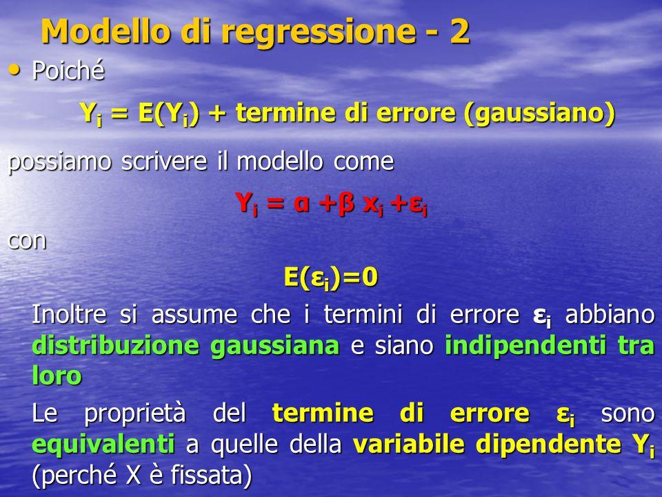 Modello di regressione - 2