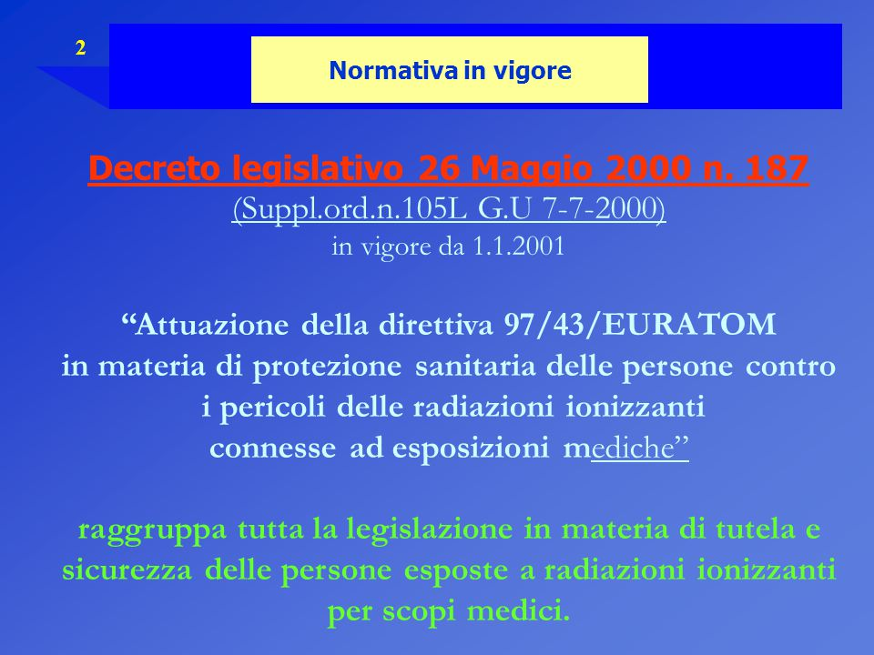 Decreto legislativo 26 Maggio 2000 n. 187
