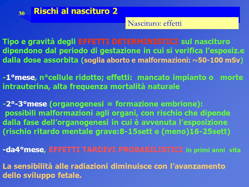 Rischi al nascituro 2 Nascituro: effetti