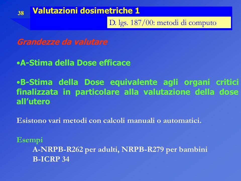 Valutazioni dosimetriche 1