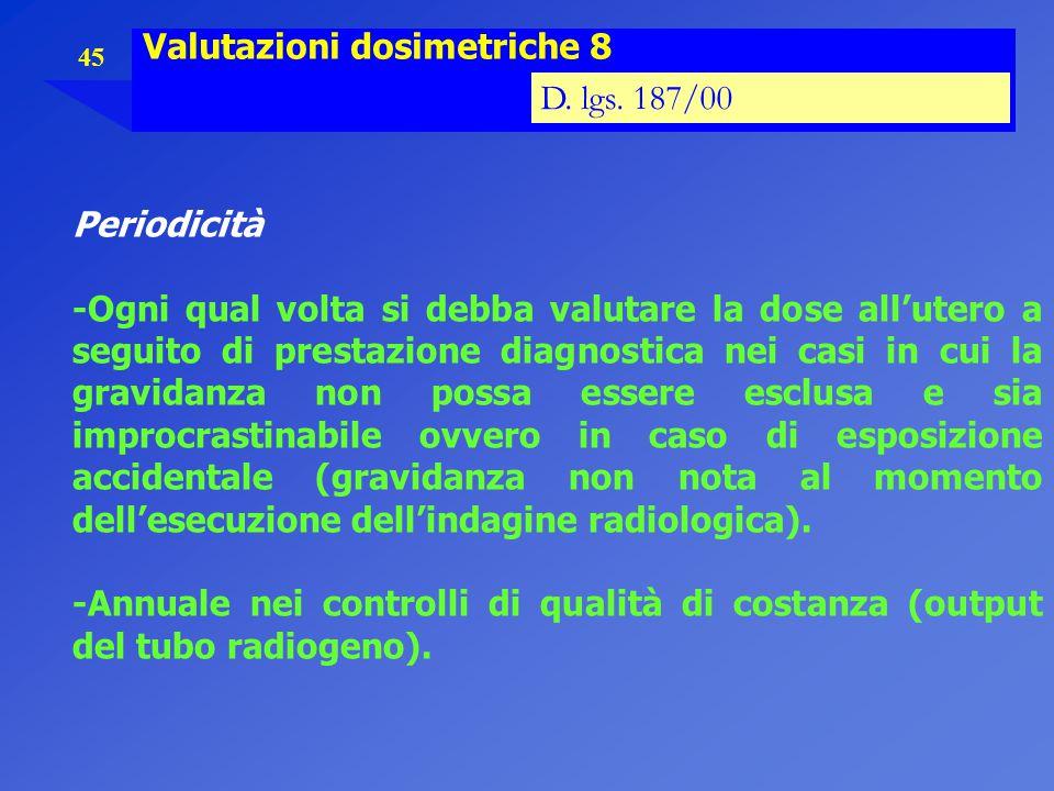 Valutazioni dosimetriche 8
