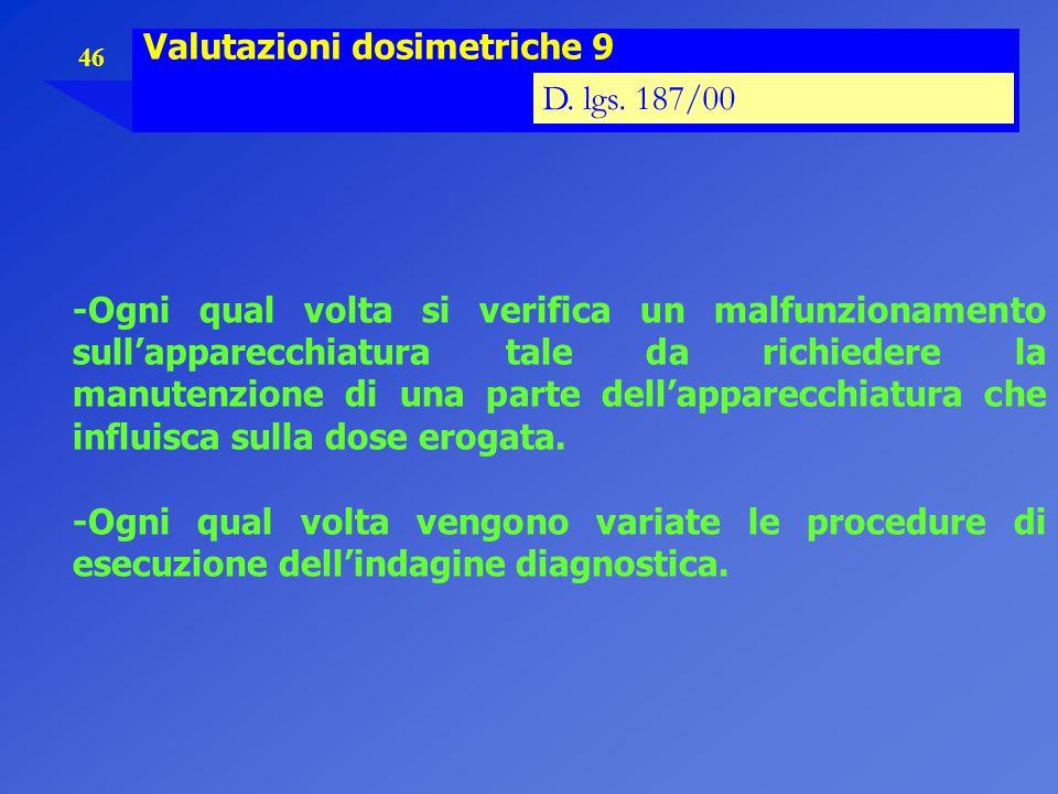 Valutazioni dosimetriche 9
