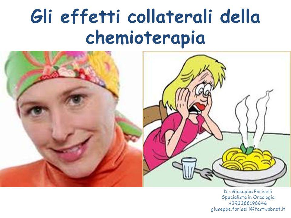 Gli effetti collaterali della chemioterapia
