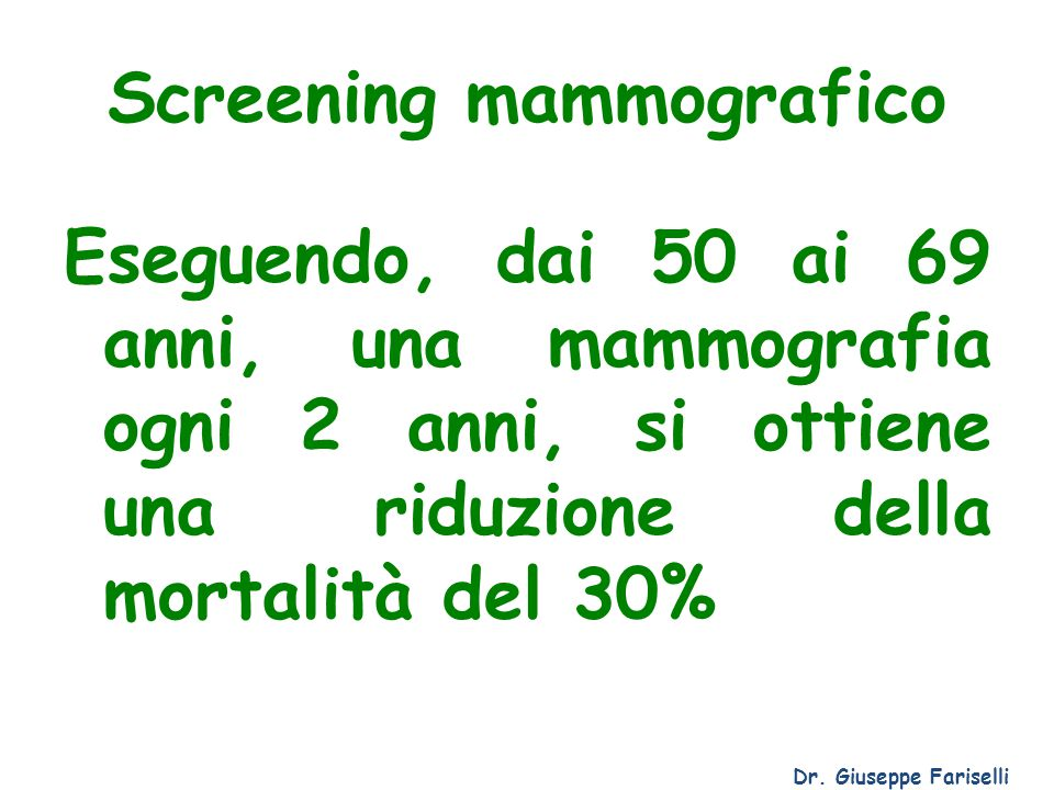 Screening mammografico