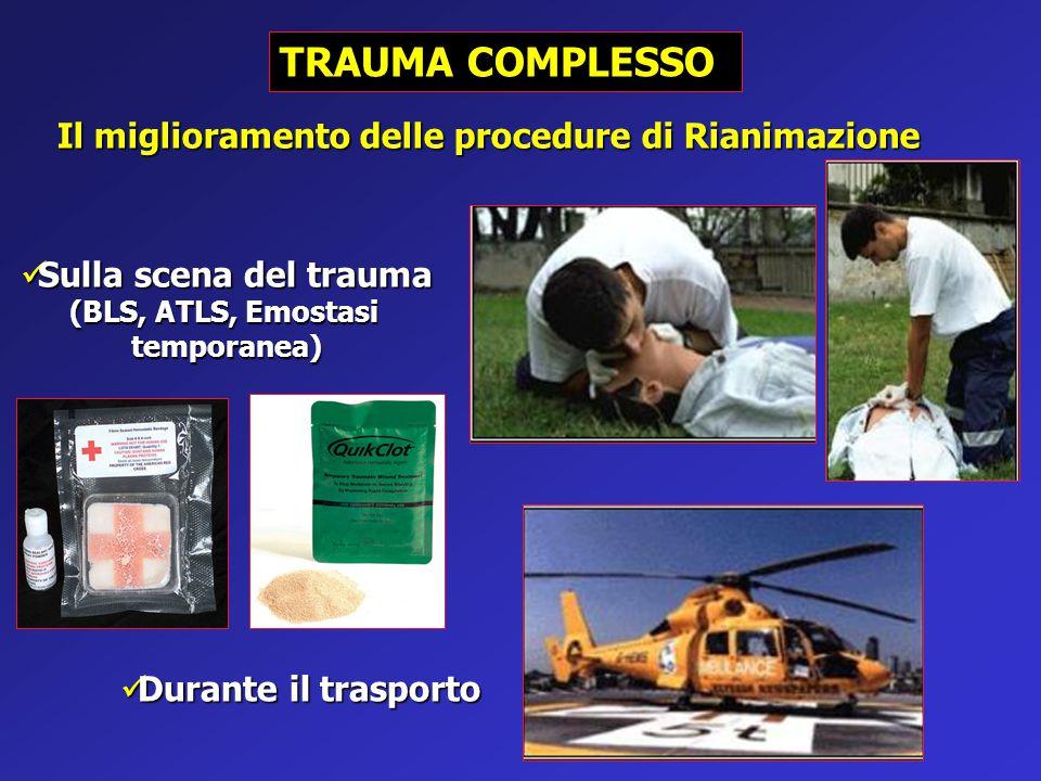 TRAUMA COMPLESSO Il miglioramento delle procedure di Rianimazione