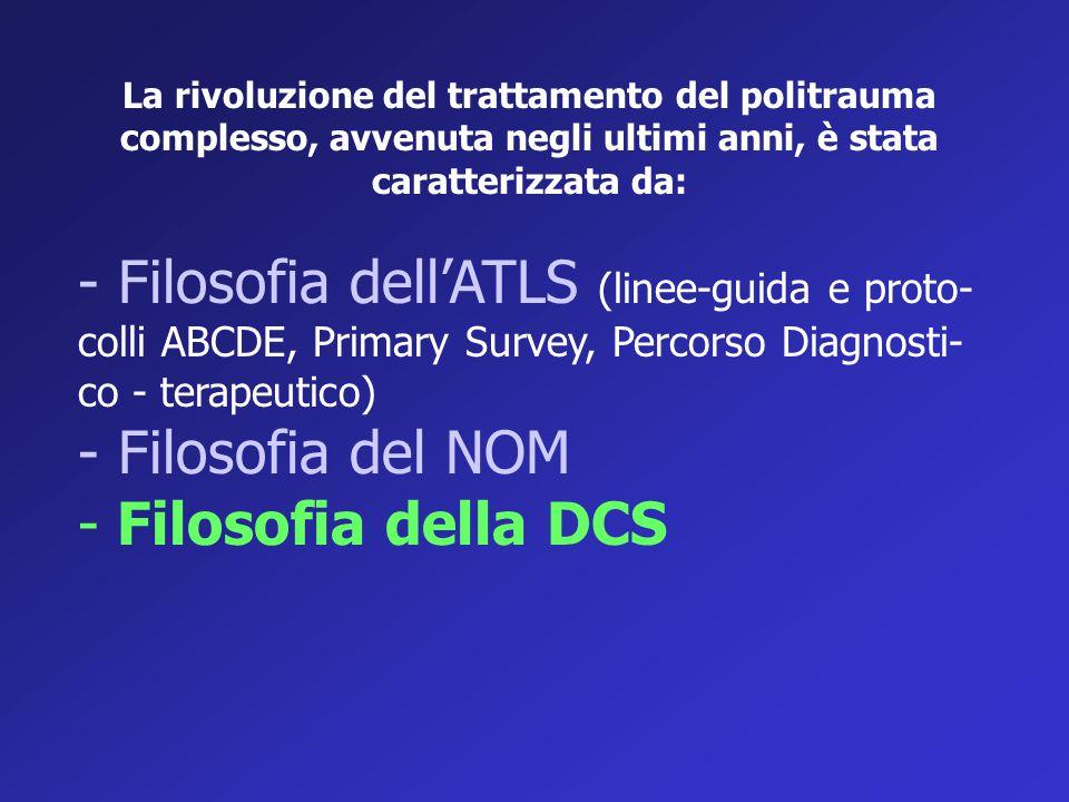 La rivoluzione del trattamento del politrauma complesso, avvenuta negli ultimi anni, è stata caratterizzata da: