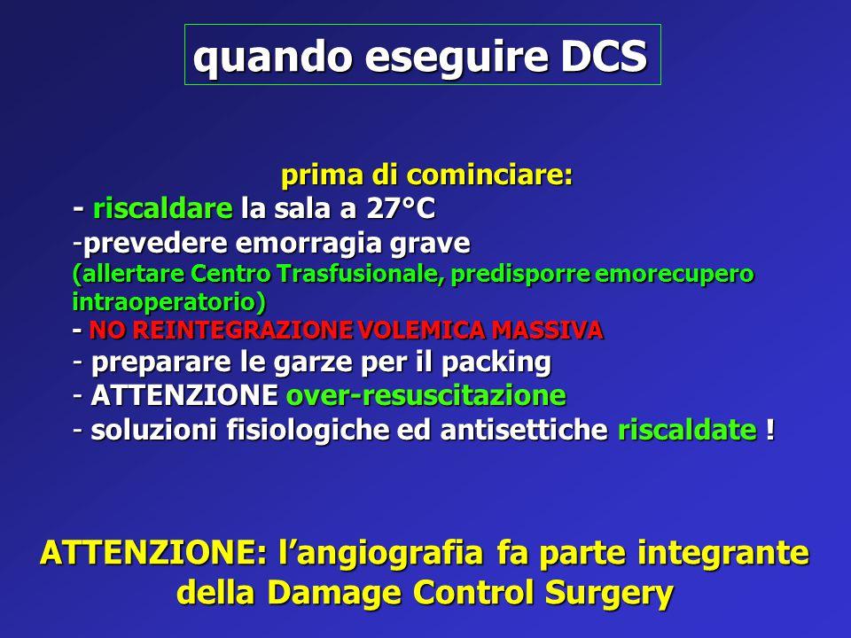 quando eseguire DCS ATTENZIONE: l'angiografia fa parte integrante