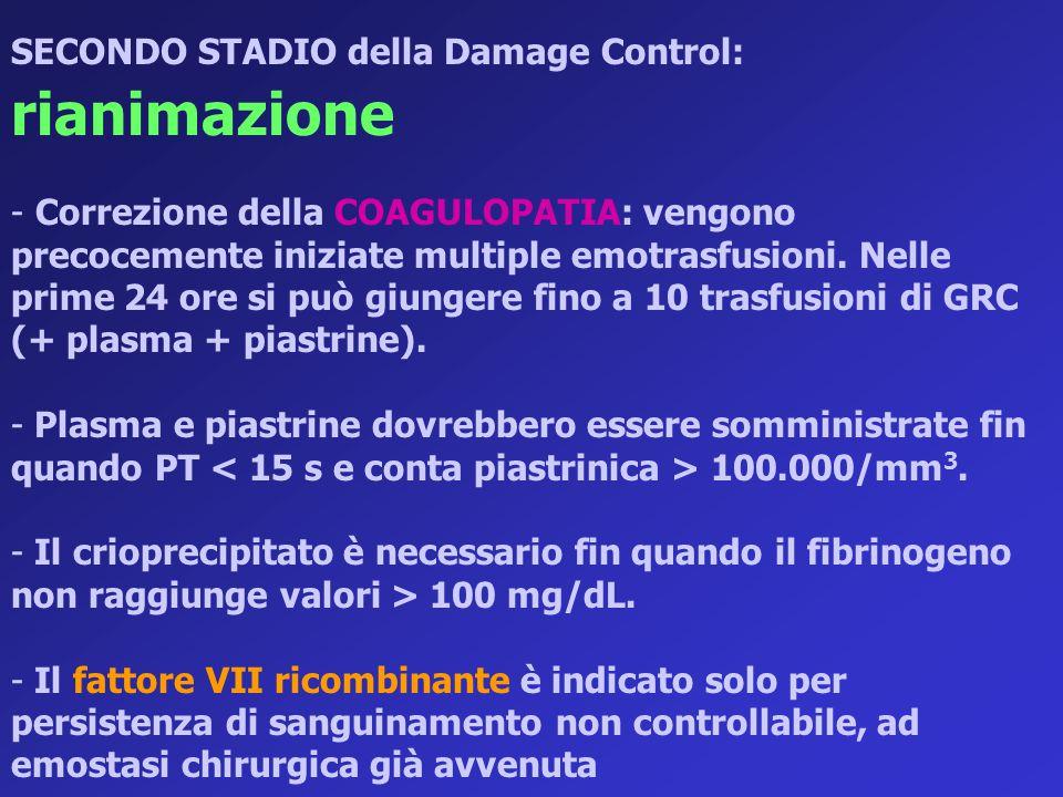 SECONDO STADIO della Damage Control: rianimazione