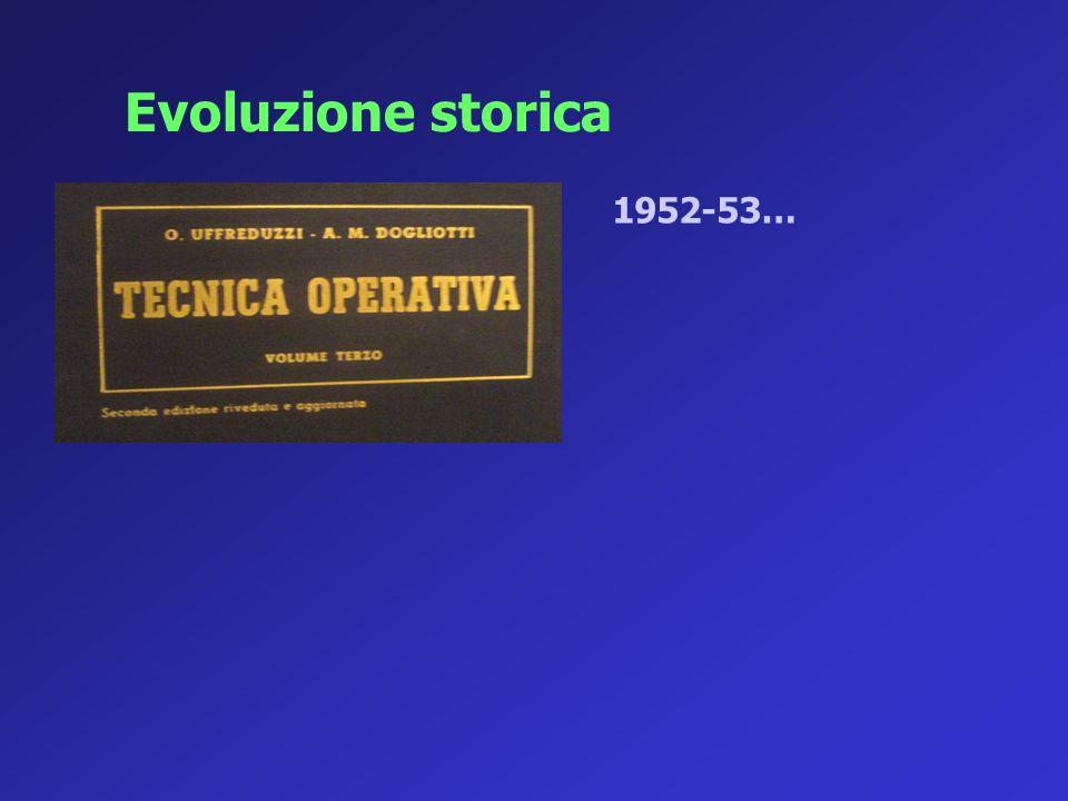 Evoluzione storica 1952-53…