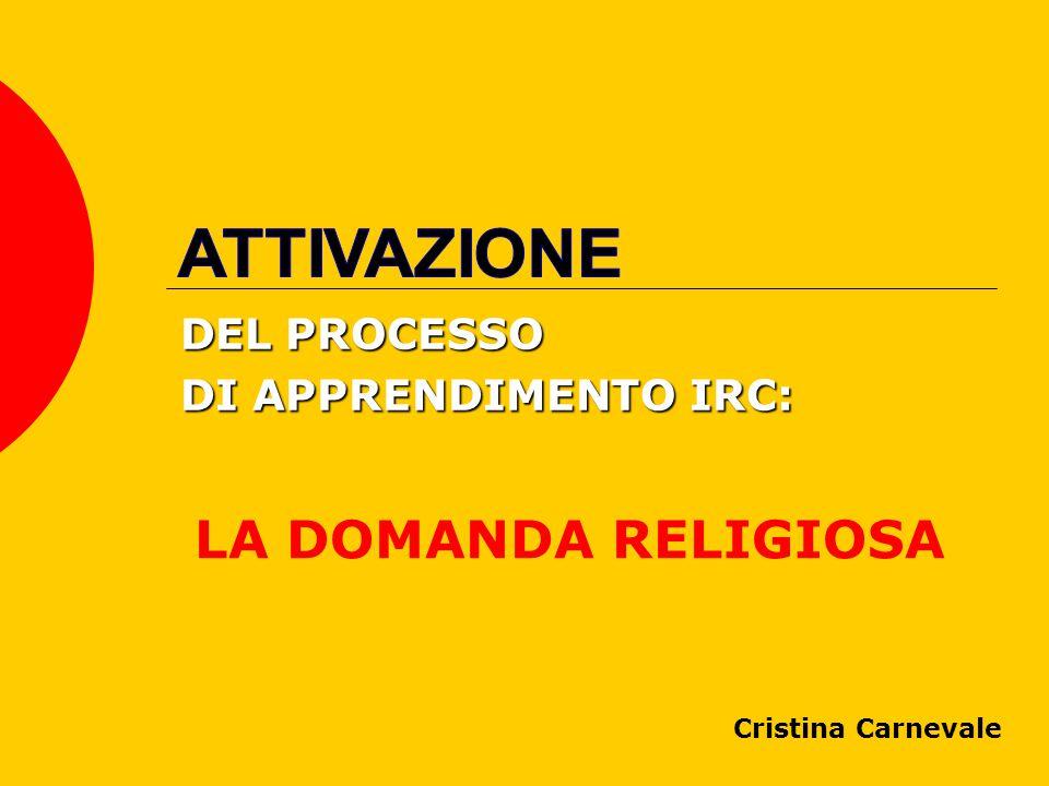 DEL PROCESSO DI APPRENDIMENTO IRC: