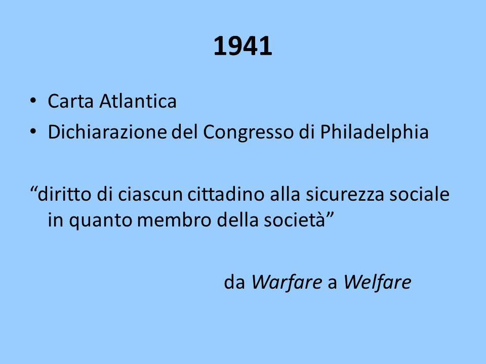 1941 Carta Atlantica Dichiarazione del Congresso di Philadelphia