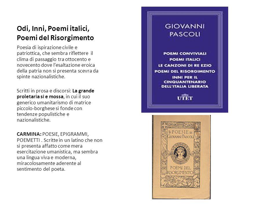 Odi, Inni, Poemi italici, Poemi del Risorgimento