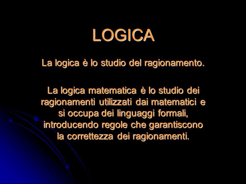 La logica è lo studio del ragionamento.