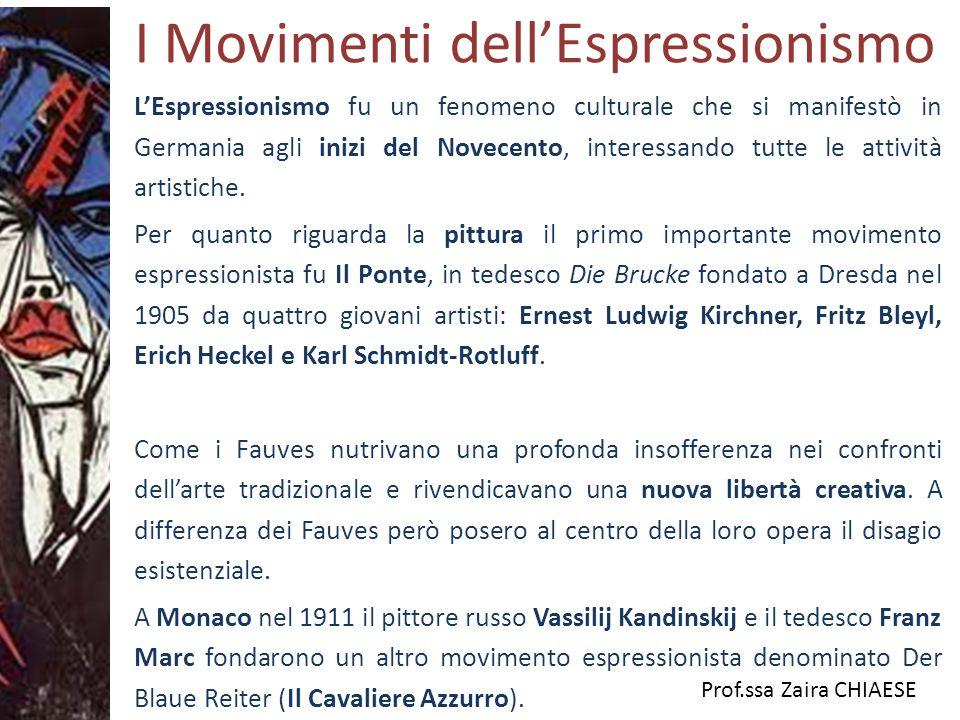 I Movimenti dell'Espressionismo