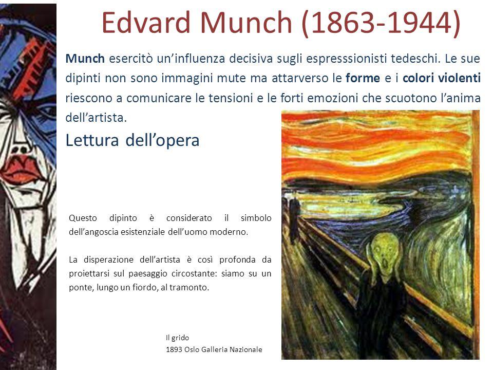 Edvard Munch (1863-1944) Lettura dell'opera
