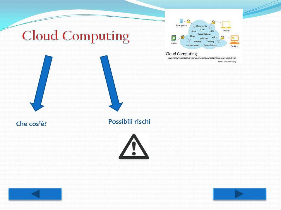 Cloud Computing Possibili rischi Che cos'è