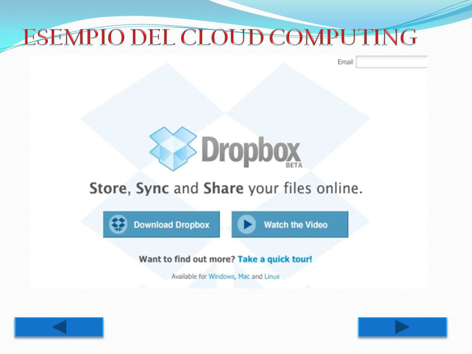 ESEMPIO DEL CLOUD COMPUTING