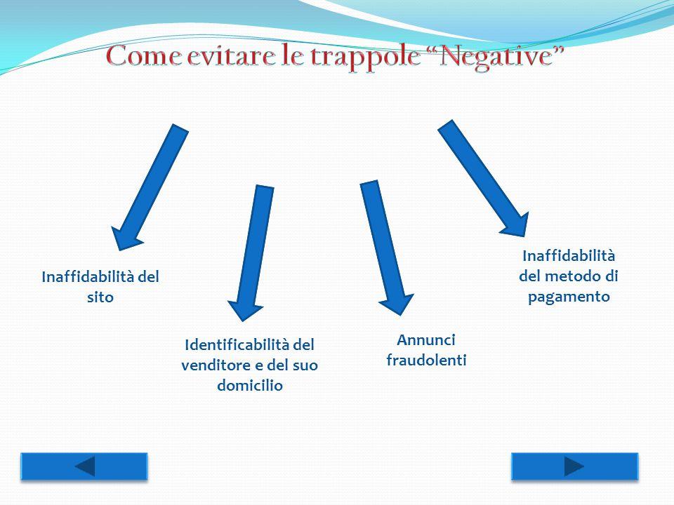 Come evitare le trappole Negative