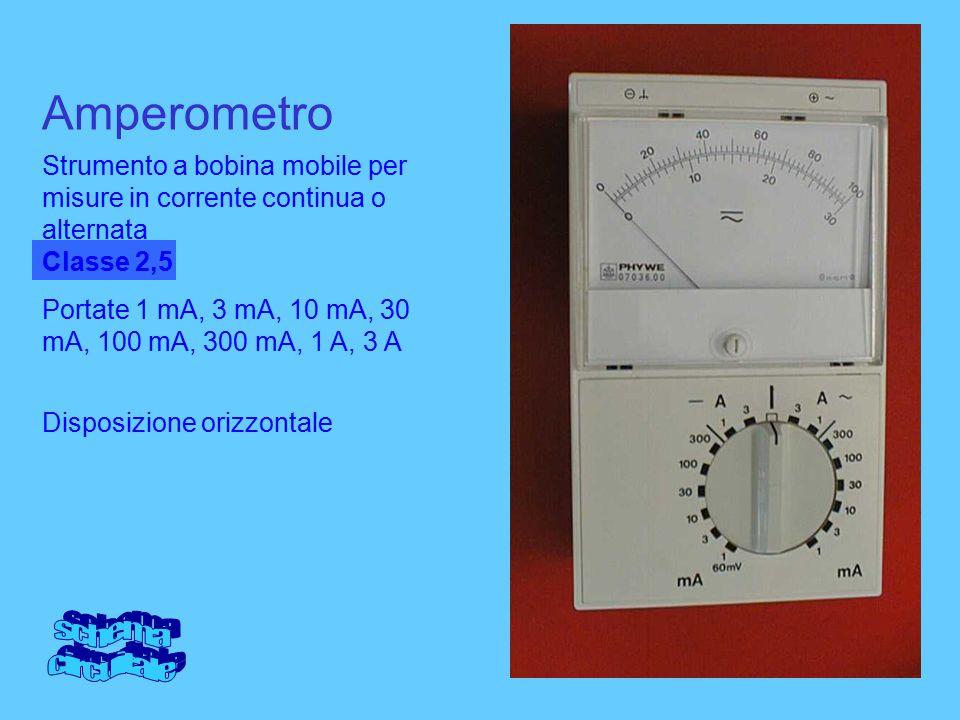 Amperometro schema circuitale
