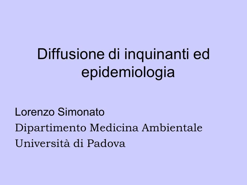 Diffusione di inquinanti ed epidemiologia