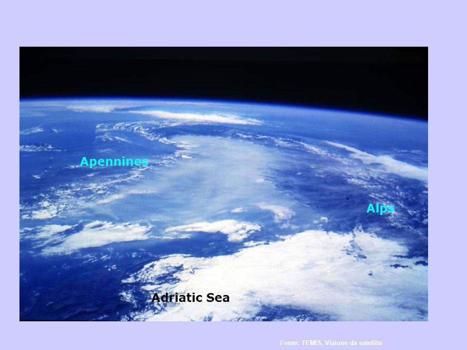 Fonte: TEMIS, Visione da satellite