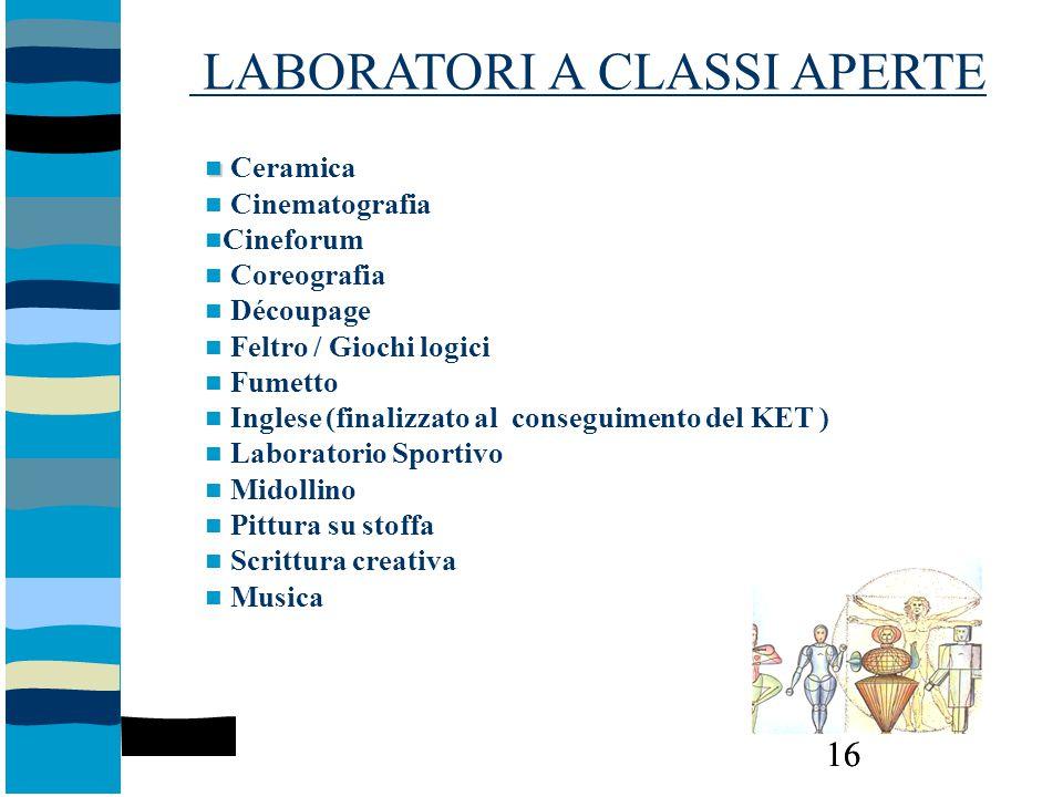 LABORATORI A CLASSI APERTE