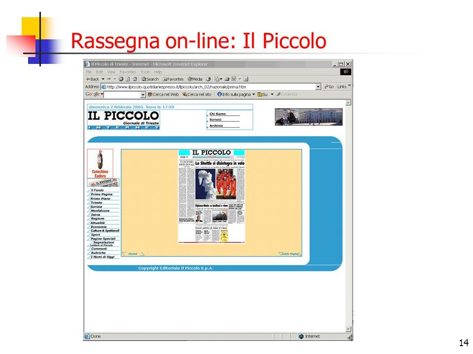 Rassegna on-line: Il Piccolo